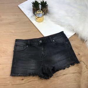 Calvin Klein Black Distressed Shorts #509